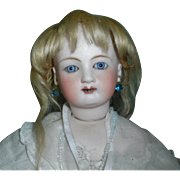 Small Antique Blonde Mohair Doll Wig TLC
