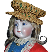 Nice Early Straw Doll Hat