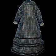 Beautiful Antique Wool Large Greiner Dress