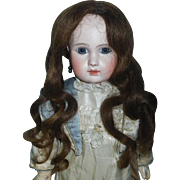 Lovely Antique Human Hair Doll Wig