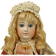 Sweet Antique White Organdy Doll Bonnet
