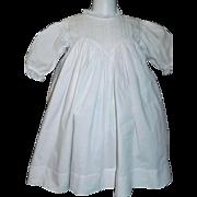 Nice Antique White Cotton Doll Dress