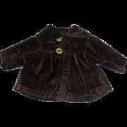Small Early Brown Velvet Doll Jacket