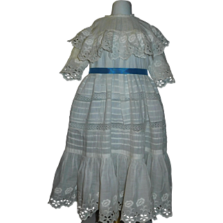 Pretty Antique Dress for a Large Doll