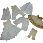 8 Pieces of Antique and Vintage Small Size Undergarments