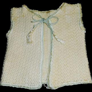 Nice Antique Doll Sweater Vest, Tassel Ties