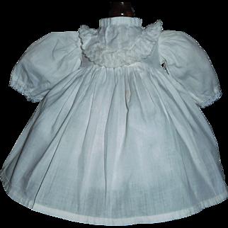 Small Vintage White Cotton Doll Dress