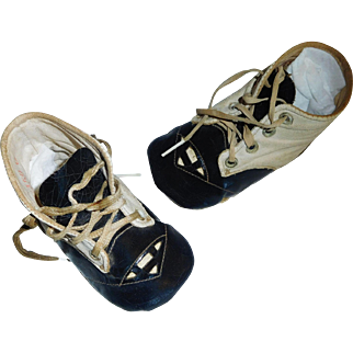Cute Pair of Antique Baby / Doll Shoes