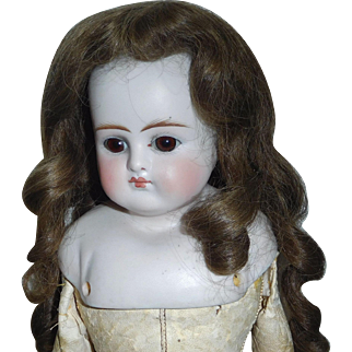 Lovely Early Human Hair Doll Wig,