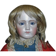 Pretty Antique Blonde Mohair Fashion Doll Wig