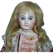 Pretty Antique  Blonde Mohair Doll Wig