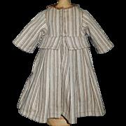Nice Early Vintage Made Wool Doll Coat w Hood