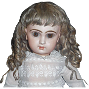 Beautiful Antique Blonde Mohair Doll Wig