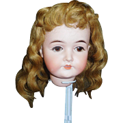 Nice Antique Golden Brown Human Hair Doll Wig