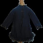 Lovely Antique French Fashion Doll Coat with Fringe