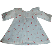 Cute Early Red and White Doll Chemise