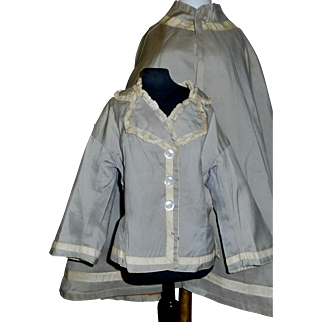 Wonderful Large Antique Silk Fashion Doll Jacket with Matching Cape
