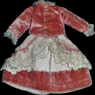 Lovely Antique Small Velvet Doll Suit