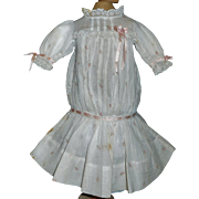 Lovely Early Dropped Waist Doll Dress, French or German Bebe