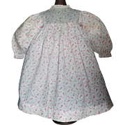 Sweet Pink and White Cotton Calico Doll Dress, Rag, Cloth