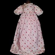 Sweet Vintage PInk Cotton Floral Doll Dress
