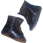 Nice Pair of Small Antique Leather Doll Boots