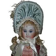 Sweet Doll Bonnet, Feather and Flowers