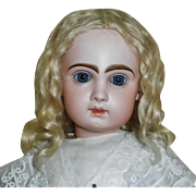 Lovely Antique Blonde Mohair Doll Wig,