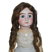 Nice Antique Human Hair Doll Wig, 14
