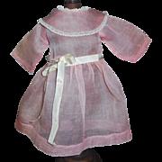 Nice Sheer Pink Organdy Doll Dress