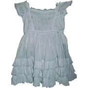 Beautiful Antique Child's Dress, Feather Stitching and Lace