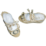Nice Pair of Antique Doll Shoes, 6