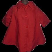 Nice Vintage Red Doll Coat