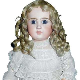 Fabulous Antique Blonde Mohair Doll Wig