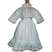 Pretty Antique White Doll Dress