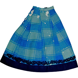 Small Antique Wool Doll Skirt, Damage