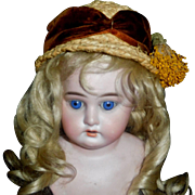 Nice Early Vintage Straw Doll Hat