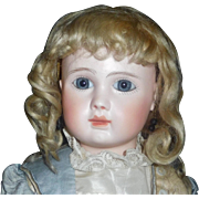Wonderful Antique Blonde Mohair Doll Wig