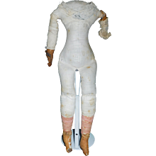 Antique Cloth China Doll Body, TLC - Red Tag Sale Item