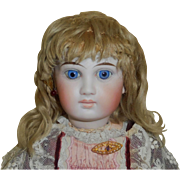 Antique Blonde Mohair Doll Wig, TLC