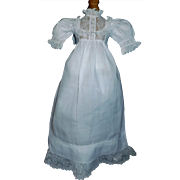 Beautiful White Antique Doll Gown