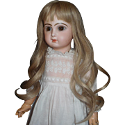 Pretty Blonde All Natural Made in France French Doll Wig