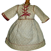 Antique Wool Doll Dress