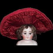 Vintage Red Wool Felt Doll Hat TLC