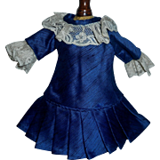 Pretty Dark Blue Small Doll Dress