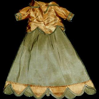 Nice Antique Silk 2 Pc Doll Dress, China, Fashion, Lady