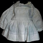 Antique White Cotton Doll Dress / Blouse
