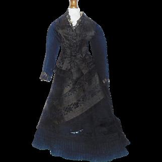 Wonderful Early Made French Fashion Doll Dress, Damage