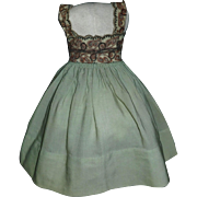 Lovely Early Wool Challis Pinafore / Jumper