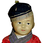 Wonderful Early Five Finger Ching Chinese Mission Doll, Ca early 1900s